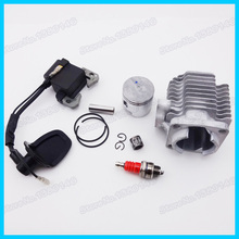 L7T Spark Plug & Ignition Coil & 40mm Cylinder Piston Kit Mini 47cc 49cc Go Kart Motorcycle Quad ATV Pocket Dirt Bike