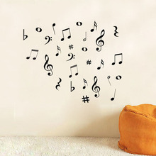 DIY MUSIC Musical NOTES Variety Pack Wall Stickers Vinyl Decoration Decal Art Living Room Bedroom Bathroom Home Decor Mural(China)