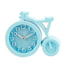 Portable Mini Mute Alarm Clock Bicycle Clocks Battery Bedside Desk Decor Gift(China)