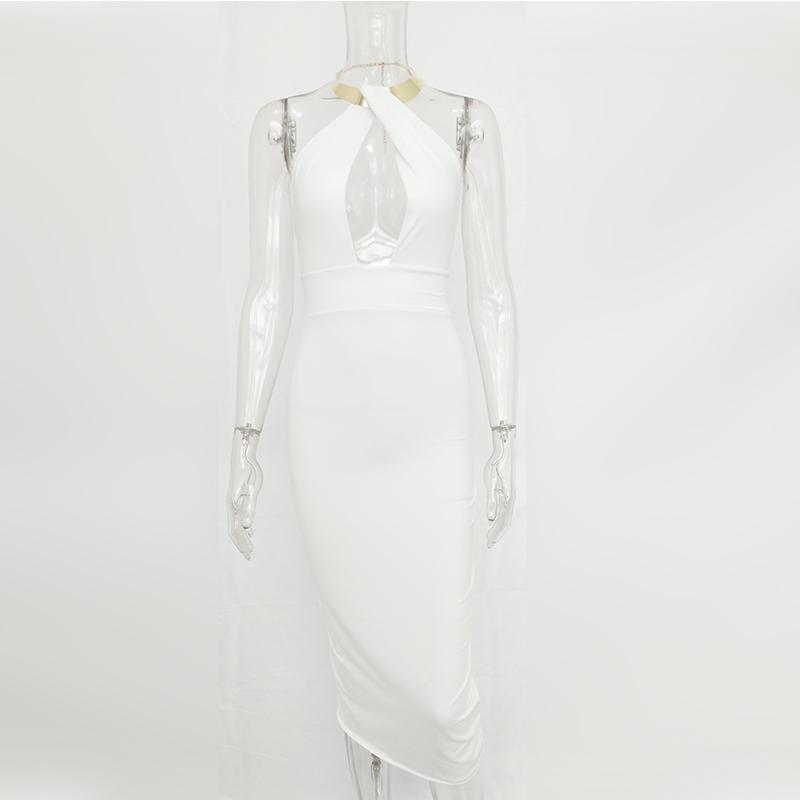 Articat Hollow Out Party Bodycon Bandage Dress Women 17 Off Shoulder Choker Long Pencil Dress Sexy Backless Split Winter Dress 20