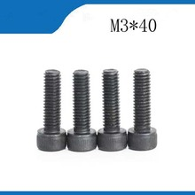Buy m3 screws stainless nails,bolts 100pcs Hex Head Screw M3*40mm DIN912 Black Carbon Steel Bolts Hex Socket Cap Screw for $9.32 in AliExpress store