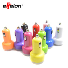 Effelon Mini 12V/24V Portable Dual Port USB Car Charger Power Adapter for iPhone 5 5s 4 4s 6 for samsung s3 s3 s4 note4 note5 s6(China)