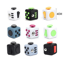 Mini Funny Colorful Fidget Cube Decompression Stress Reliever Vinyl Dice Toys Black and White Magic Cube Toys Antistress Cubo(China)