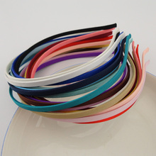 50PCS  Assorted colors  5mm full fabric covered plain Metal Hair Headbands for DIY Hair jewelry,BARGAIN for BULK