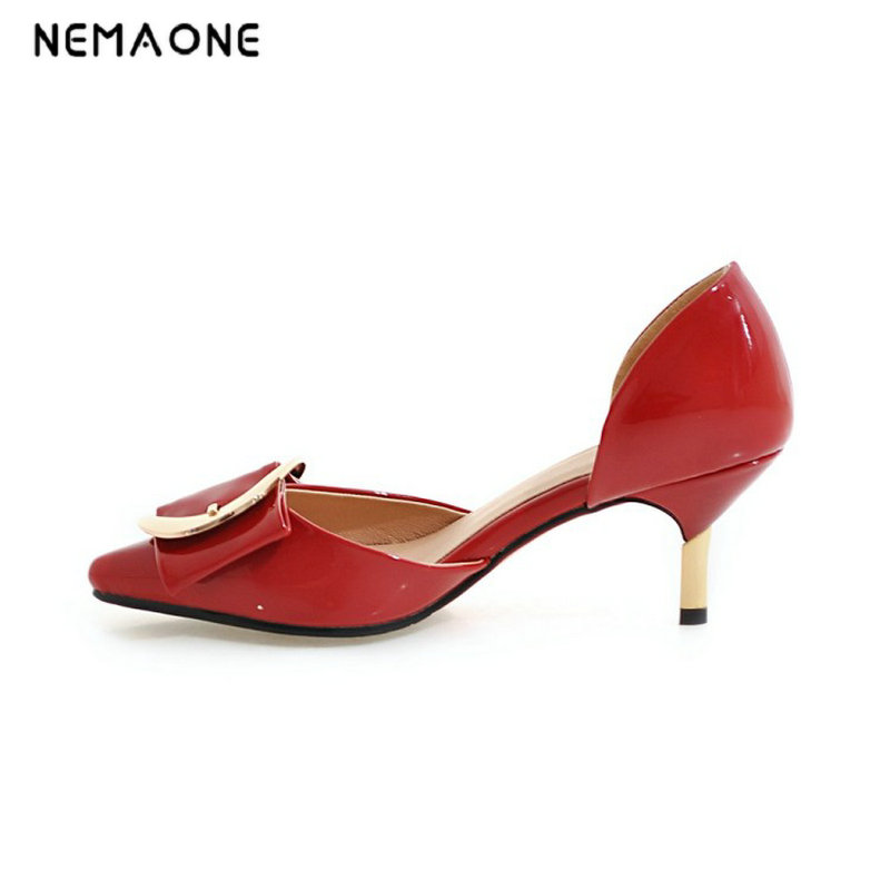 NEMAONE 2017 New summer style women shoes high heels women pumps poined toe dress shoes woman zapatos mujer<br>