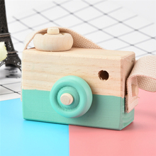 2017 Green Wooden Toy Camera Kids Creative Neck Hanging Rope Toy Photography Prop Gift Great Fun For Children Outdoor Playing(China)
