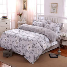 2017 New Countryside Style Quilt cover Single/Queen/King Bedcloth White Flower Bedding sets home Bed sheet set Christmas Gifts