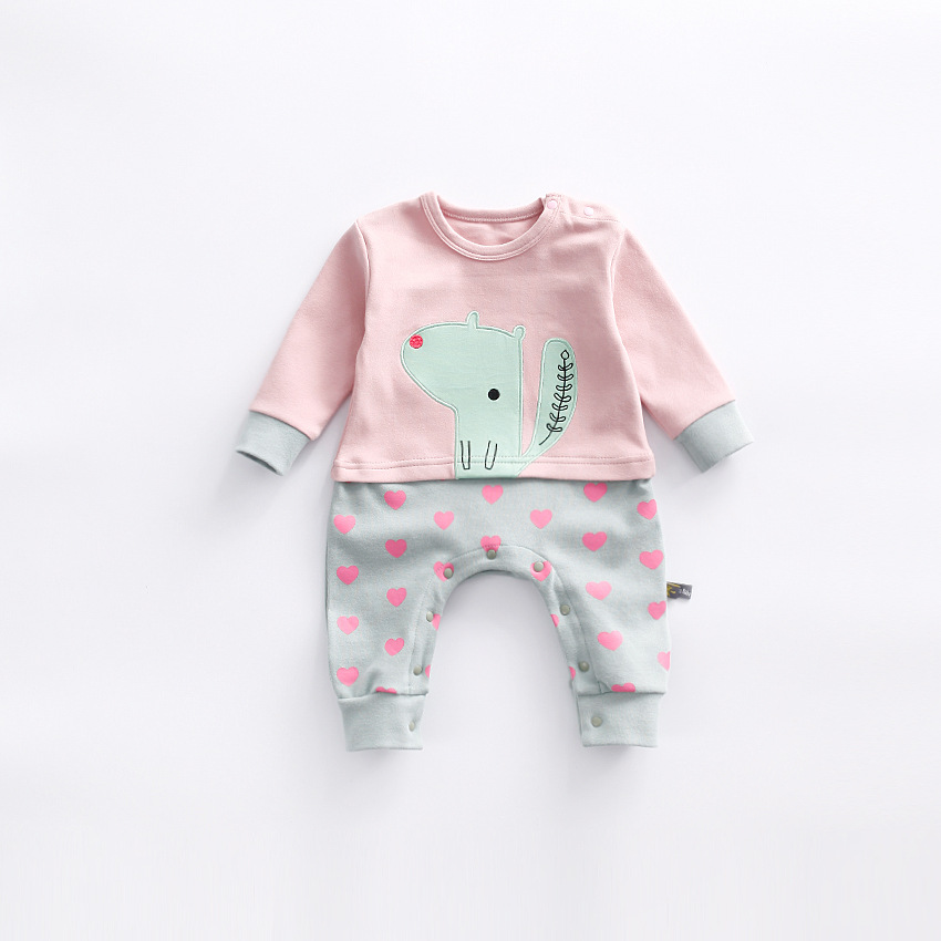 peninsula baby 2017 new autumn baby rompers thick long sleeve new born boys girls climbing clothing cartoon animal baby jumpsuit<br>