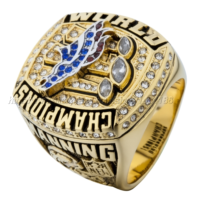 Denver Broncos Championship Ring 2015 Replica Super Bowl Football Rings Jewelry USA Men Fan Gift Size 8-14 ZS35(China (Mainland))