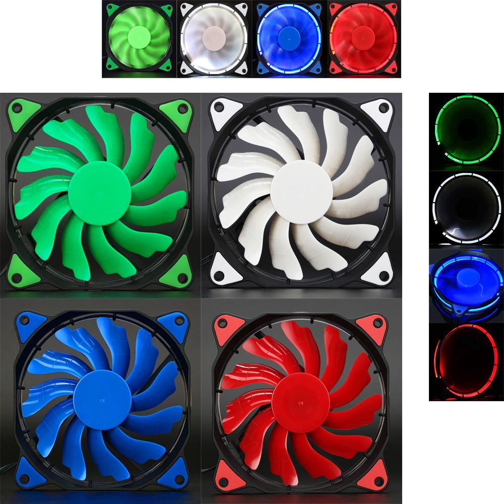 Mokingtop 2017 Quiet Cooling Fan 120mm DC 12V 3+4pin LED Light effects Clear Computer Case Fan for Radiator Mod<br><br>Aliexpress