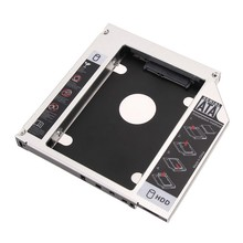 2017 Aluminum SATA 2nd HDD HD Hard Drive Caddy Tray Case Adapter for Universal 2.5'' 12.7mm for Laptop ODD DVD/CD-ROM Optibay(China)