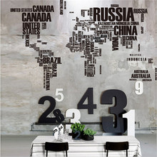 1Pcs Fashion Large 116x190cm Wall Vinyl Sticker Decals Decor Art Bedroom Design Mural World Map English Words Quotes