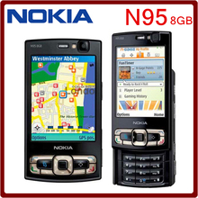 Original N95 8GB Storage Camera 5MP Unlocked Nokia N95 8GB Mobile phone Free shipping  One year Warranty