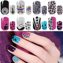 2017 New Fashion Nail Strip Nail Polish Art Sticker Patch Foil DIY Manicure Beauty Nail Decoration Tools