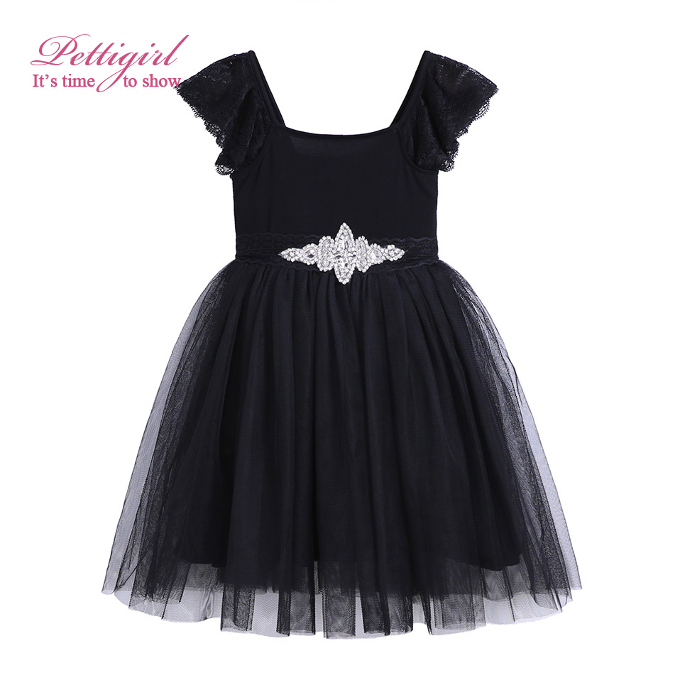 Pettigirl Girls Black Dress Crystal Lace Sash Princess Dresses Party Wear Bontique Daughter Clothing G-CMGD909-20<br><br>Aliexpress