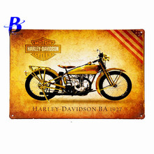 "Neon Beer Sign""Harley Davidson Ba 1927"" Vintage Metal Tin Signs Retro Tin Plate Sign Wall Decoration for Cafe Bar Feyenoord Ajax"