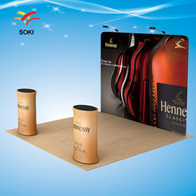 8ft Exhibition Booth Straight Exhibition Display System Stand Banner With Printing(China)