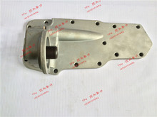 Free Shipping 6D102 Oil Cooler Cover with oil filter adaptor For Komatsu PC200-6 Excavator