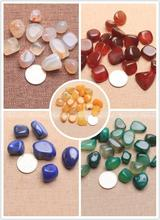 500/1000g Natural Agate Gravel Stone For DIY Jewelry Making Fish Tank Aquarium Home Office Shop Display Cabinet Decoration