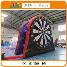 Double sides 4m/13ft H adults foot darts game , giant inflatable soccer ball shooting dart games, giant inflatable dart board