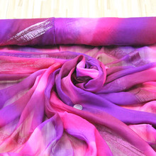 100% pure real Mulberry silk fabric chiffon scarf fabric,#23,width:130cm,thickness:5--6mm,sell by 3m(China)