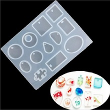Pendant Fashion Scrapbooking Silicone Mould DIY Resin Decorative Craft Jewelry Making Mold epoxy resin molds(China)