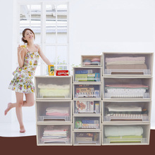 Plastic clear Large Drawers Cloth Cosmetic Desk Make Up Organizer Shoes Home Book Bathroom Office Organizer Holder Box DIY Case