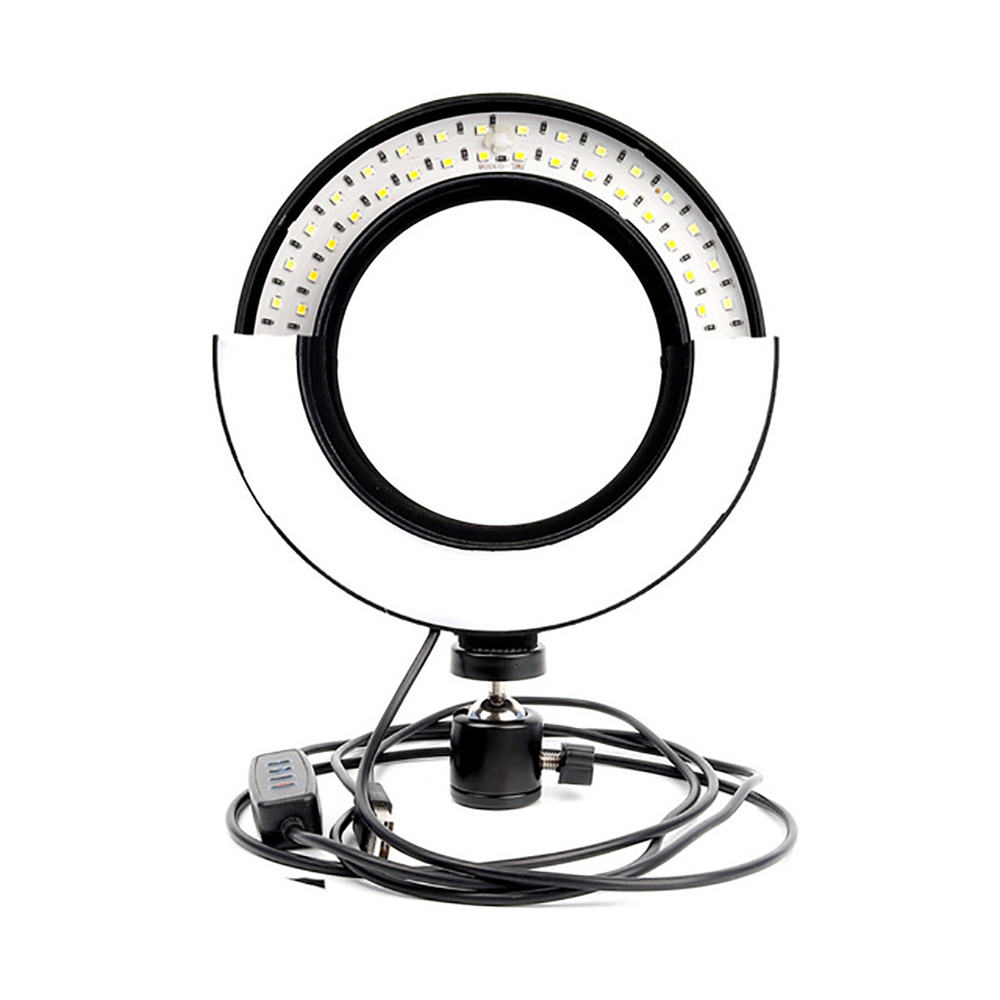 12W dimmable 10 inch Ring Light on The Table LED Video Light 3 Light Modes 2700-6500K Photo Light with Remote Control self-Timer Light Ring Light