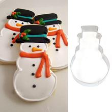 Christmas Snowman Fondant Mould Stainless Steel Cookie Cutter Cake Tool For DIY Candy Biscuit Jelly Pastry Baking Mold Hot sale