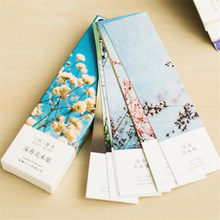 30 pcs/lot Cute Kawaii Paper Bookmarks Lovely Flower Book Marks For Books Kid Gift Stationery School Supplies Free Shipping 3818