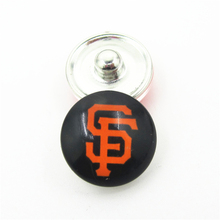 20pcs/lot San Francisco giants MLB Team Snap Button Charms DIY 18mm Baseball Sports Ginger Button Bracelet Snaps Jewelry