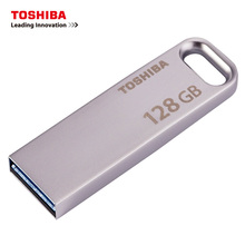 TOSHIBA USB Flash Drive USB3.0 U363 128GB usb stick 32gb chiavetta usb 64 gb Metal Waterproof Pen Drive Storage Device pendrive(China)