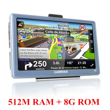 7 inch Car GPS Navigation Capacitive touch screen Android  Russia Europe map Truck Vehicle gps Navigator sat nav Built 8GB 512MB
