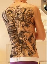 Waterproof Temporary Tattoo Sticker Chinese Ancient General men's whole back large tatto stickers flash tatoo fake tattoos women