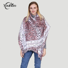 YOUHAN 2017 Women Scarf Luxury Brand Stain Cotton Leopard Print Blanket Shawl Scraf Long Scarves Wraps Echarpe Bandana Pashmina(China)