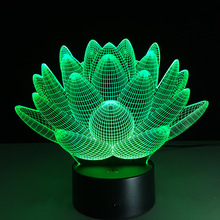 Romantic Lotus Flower Night light Color Changing Lotus Flower LED Night Light Romantic Love Mood Lamp Decoration Free Shipping