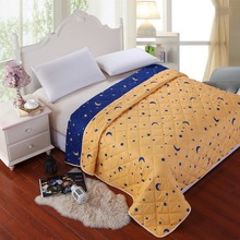 Bedding comforter set star and moon fashion dots blanket Duvet Quilt Summer air-condition edredones doona home textile print