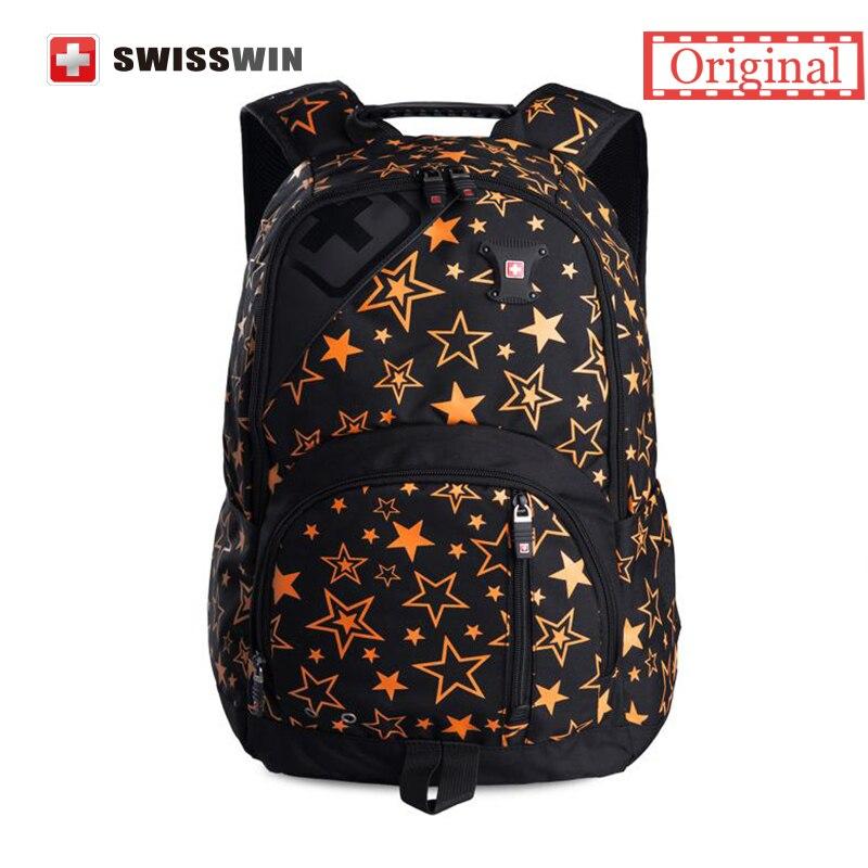 Swisswin Brand Fashion Backpack Women Japan Korean Style School Backpack For Teenage Girls Lightweight Star Schoolbag Bookbag<br>