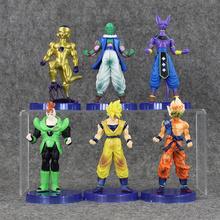 Wonderful 6pcs/set Dragonball Dragon Ball Z Resurrection F Super Saiyan Son Goku Kakarotto Frieza Vegeta action figure toy