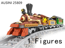 Compatible With Lego 483pcs AlanWhale Classical Steam locomotive Trains Locomotive Model Building Blocks Bricks Playset Railway(China)