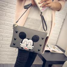 Mickey envelope bag Fashion New Handbags High quality PU leather Women bag Cartoon Printing Sweet Lady Shoulder Messenger Bag