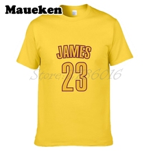 Men LeBron James #23 Cleveland T-shirt Clothes Short Sleeve T SHIRT Men's Fashion W0218006(China)