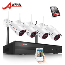 ANRAN 4CH Wireless NVR Kit P2P 960P HD Outdoor Waterproof IR Night Vision Security IP Camera Wifi CCTV System(China)