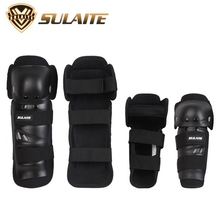 Super Rugged Shell Knight Protector Anti - seismic Outdoor Sports Hinge Knee Legguard Four - piece Set Elbow And Knee Pads