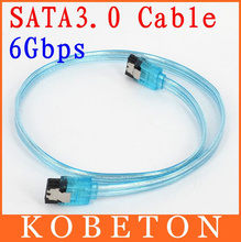 AK   New Arrive Blue SATA3.0 Cable 50CM 6Gbps Flat Data Cable For HDD Sata Serial ATA HD Data Hard Drive Signal Cable