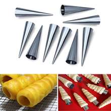 12Pcs Croissant Mold Stainless Steel Christmas Conical Tube Cone Danish Tool DIY Baking Cream Mold Pastry Spiral Roll Horn Mold(China)