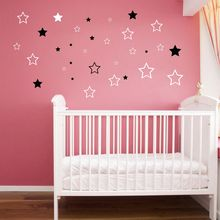 Baby Nursery Stars Wall Sticker Star Wall Decal Children Room Kids Room Wall Art Cut Vinyl Decor(China)