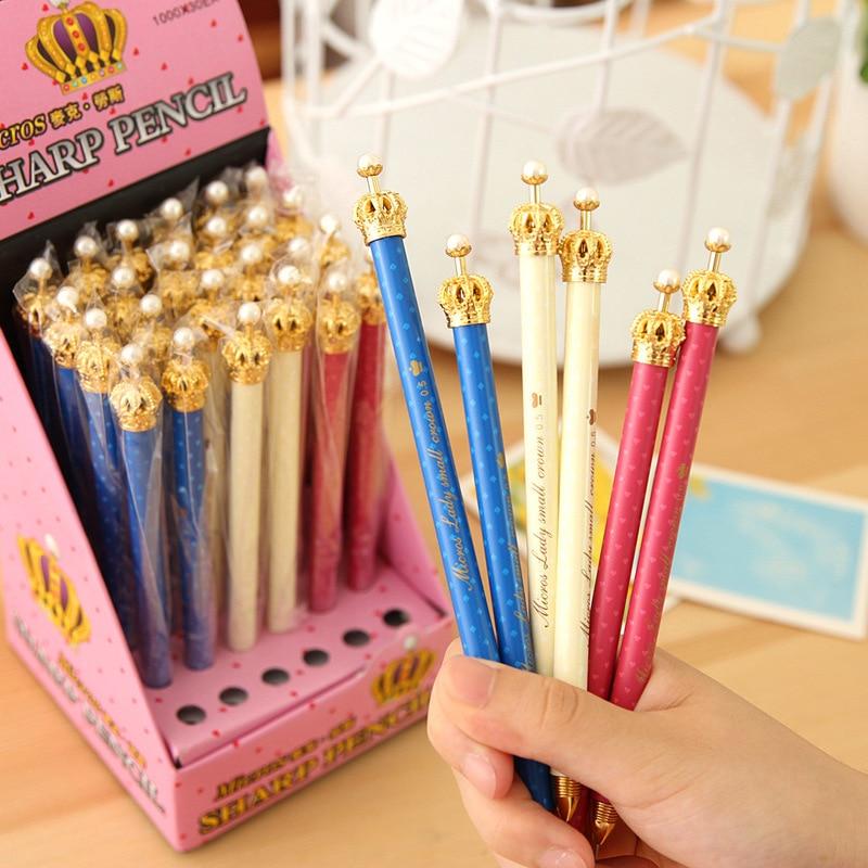 30 pcs/Lot crown Gel pen Crown pen dream Dot cute Kawaii Stationery Caneta Novelty gift office kids school supplies<br><br>Aliexpress