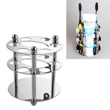 Stainless Steel Toothbrush Rack Holder Bathroom Accessories Wall Mounted Toothpaste Razor Holder Toothbrush Toothpaste Storage(China)
