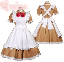 "APH ""Axis Powers Hetalia"" North Italy Feliciano Vargas England Cosplay maid Costume Custom-Made"